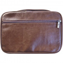 Distressed Leather-Look Brown Bible Cover