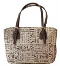 Names of Jesus Bible Cover (Brown, Large)