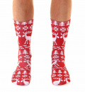Ugly Sweater Moose Crew Socks