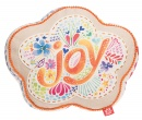 """Always Be Joyful"" (1 Thes. 5:15) Flower Affirmation Pillow"