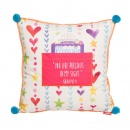 """You Are Precious In My Sight"" (Isaiah 43:4) Square Affirmation Pillow"