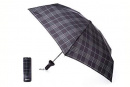 Water Bottle Umbrella: Black Plaid