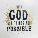 Tabletalk Plaque: With God All Things Are Possible