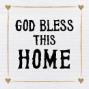 Tabletalk Plaque: God Bless This Home