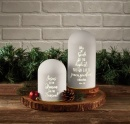"Christmas Heartlights ""Glory to God"" Lighted Dome Jar"