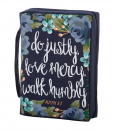 Justly-Mercy-Humbly (Micah 6:8) Bible Cover