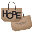 Hope Jute Tote Bag (Burlap)