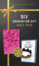 "Graduation Gift Bible Pack: Pink NIV Bible Plus ""The Story"" Devotional Book"