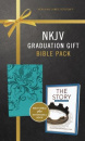 "Graduation Gift Bible Pack: Turquoise NKJV Bible Plus ""The Story"" Devotional Book"
