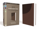 NIV Super Giant Print Reference Bible (Brown)