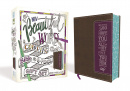 NIV Beautiful Word Coloring Bible and 8-Pencil Gift Set (Brown/Purple)