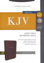 KJV Reference Bible (Giant Print, Burgundy Bonded Leather, Indexed)