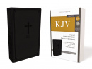 KJV Thinline Bible (Large Print, Leathersoft, Black)