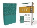 KJV Thinline Bible (Large Print, Leathersoft, Green)