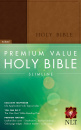 Premium Value Slimline Bible NLT (Brown & Tan)