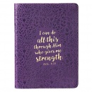 Phil. 4:13 Purple Leather Journal