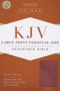 KJV Large Print Personal Size Reference Bible, Pink LeatherTouch Imitation Leather – Large Print