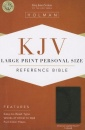 KJV Large Print Personal Size Reference Bible, Charcoal LeatherTouch Indexed