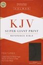 KJV Super Giant Print Reference Bible (Charcoal Leather)