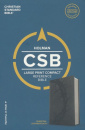 CSB Large Print Compact Reference Bible (Charcoal)