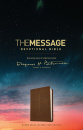 The Message Devotional Bible (Brown, Leather-Look)
