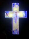 Solar Lighted Jesus Cross