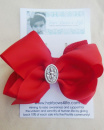 Red Christmas Baby Jesus Bow