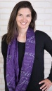 (Purple) I Am A Daughter Of God Infinity Inspirational Scarf