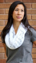 (White) Hail Mary Infinity Inspirational Scarf