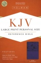 KJV Personal Size Reference Bible: Large Print | Leather Touch | Purple