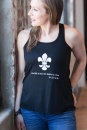 One Life is All We Have to Live with Fleur-de-lis, St. Joan of Arc, Tank (Small)