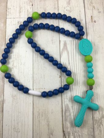Navy & Green Soft Rosary