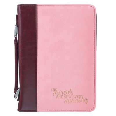 His Mercies Bible Cover (Pink & Brown)