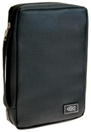 Black Polyester Bible Cover