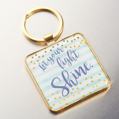 Let Your Light Shine Metal Keyring