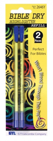 Bible Dry Highlighter Refill: Yellow (2pk)