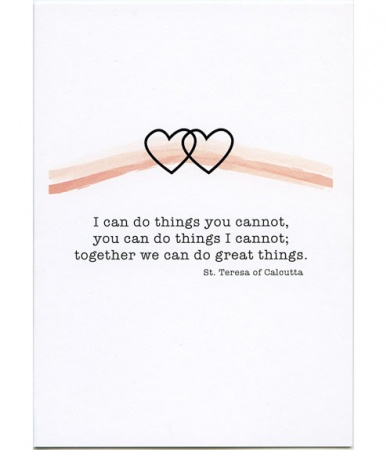 Together We Can Do Great Things Anniversary Card
