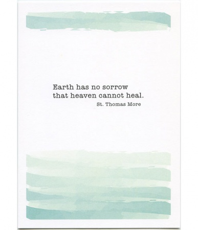 Heaven Can Heal, St. Thomas More Sympathy Card