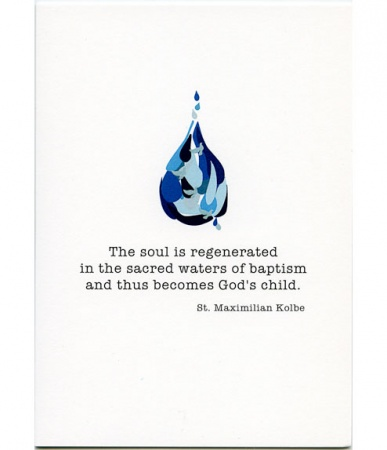 The Soul Becomes God's Child Baptism Card