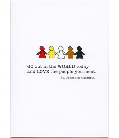 Go Out In The World Congratulations Card