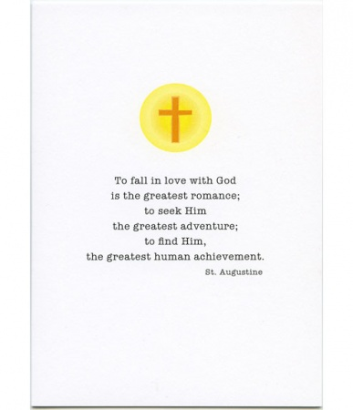 To Fall In Love With God, St. Augustine Priest Anniversary Card