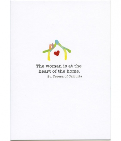 Heart of the Home, St. Teresa of Calcutta Mother's Day Card