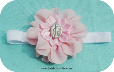 Pink Flower Blessed Mother Headband