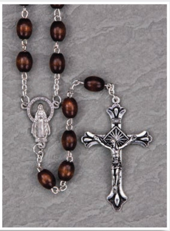 Dark Brown Keepsake Rosary