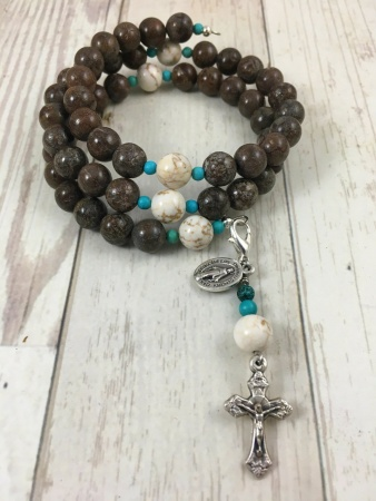 Our Lady of Good Counsel Rosary Bracelet