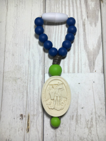 Navy Blue and Green St. Michael Mini Decade