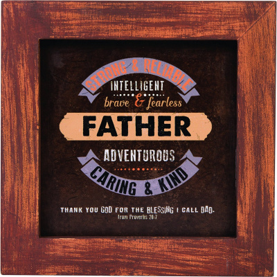 """Father"" Box Plaque"