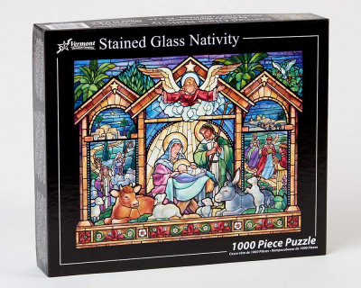 Stained Glass Jigsaw Puzzle (1,000 Piece)
