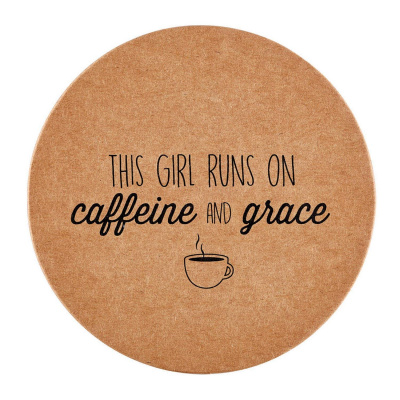 Caffeine and Grace Coasters (8 Pack)