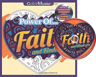 Power of Faith Adult Coloring Book (Bonus Relaxation Music CD Included)